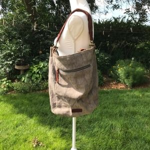 Lucky Brand Marble Gray Shoulder Bag
